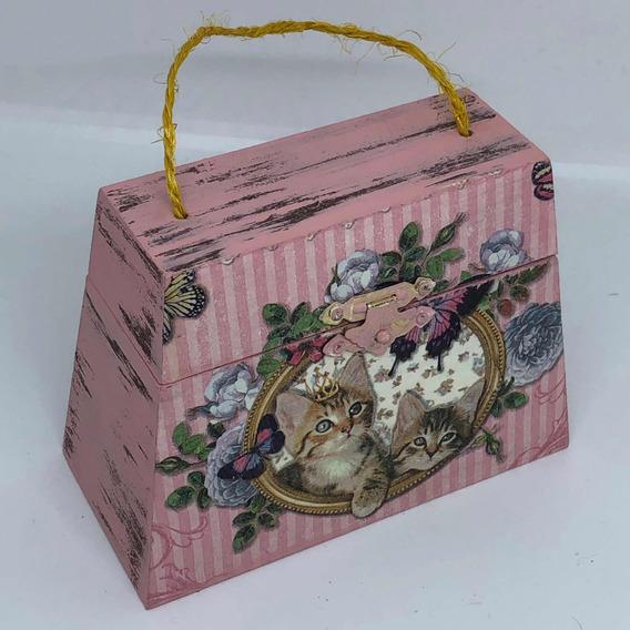 Bolsa Alhajero Vintage De Mdf Con Decoupage