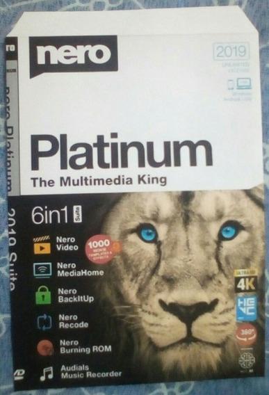 Nero Platinum 2019 Suite V20 + Patch Cd/dvd