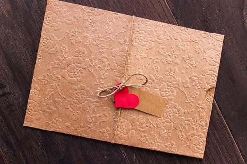 Imagem 1 de 5 de 100 Envelope Convite  Casamento Luva Branco Ou Kraft 15x21,5