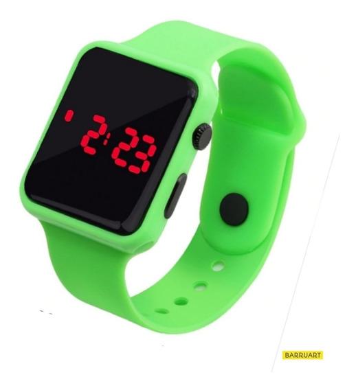 Relógio Digital Silicone Infantil / Adulto + Estojo Acrílico