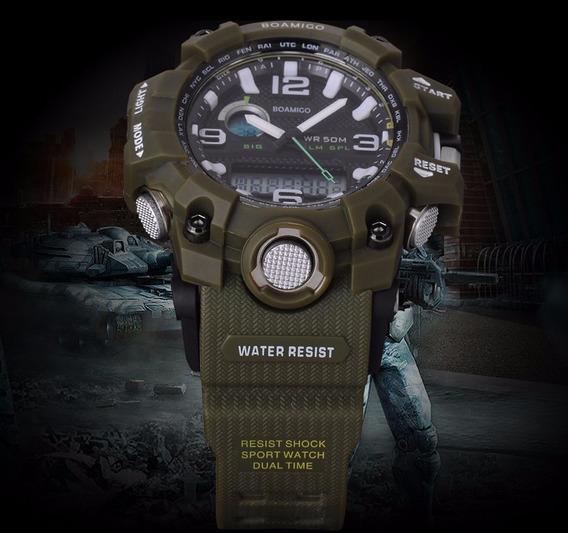 Relógio Masculino Militar Esportivo Anti Shock Boamigo F5100
