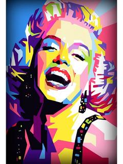 Placa Quadro Decorativo 60x40cm Retro Vintage Marilyn Monroe