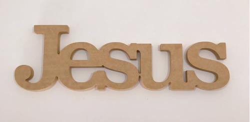 Imagem 1 de 3 de Palavra Jesus 15mm 12x37 Mdf