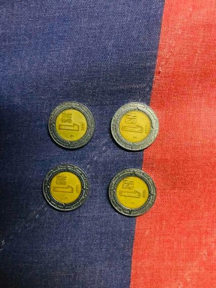 Set De Moneda Nuevos Pesos Mexicanos 1992, 1993, 1994, 1995