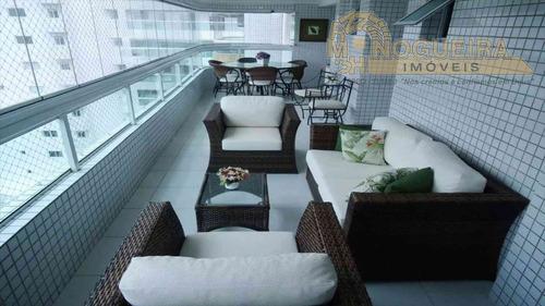 Apartamento Na Praia Grande Tupi 109 M2 Com Varand - 3885