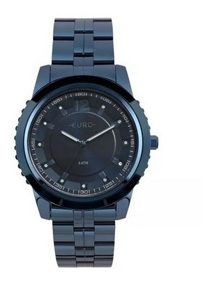 Relógio Euro Feminino Metal Glam Azul - Eu2035yoe/4a