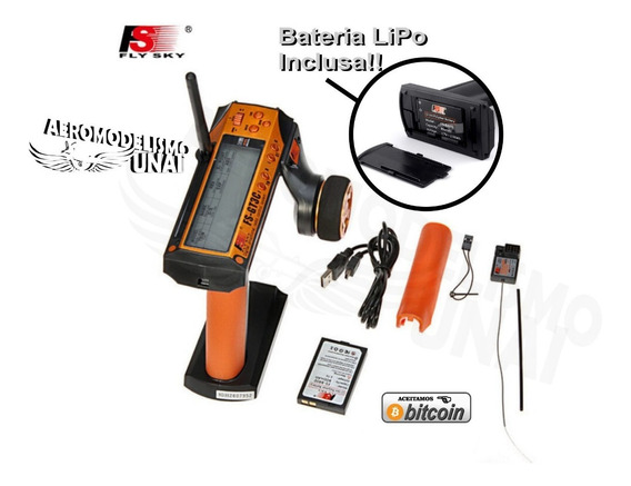 Radio Flysky Fs-gt3c 2.4ghz 3 Canais Digital C/ Bateria