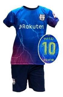 Conjunto Infantil Uniforme Barcelona Futebol 3 Modelos