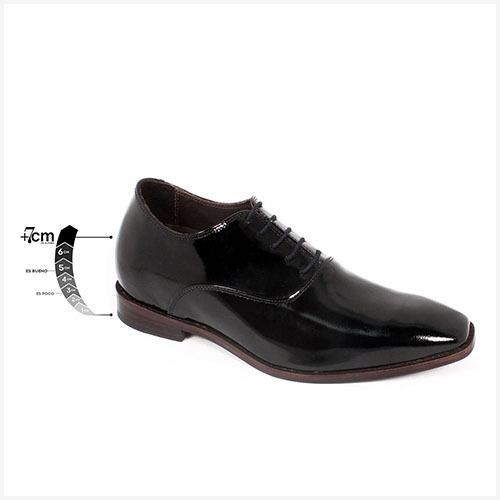 Zapato Formal Elegant Charol Negro Max Denegri +7cms De Altu