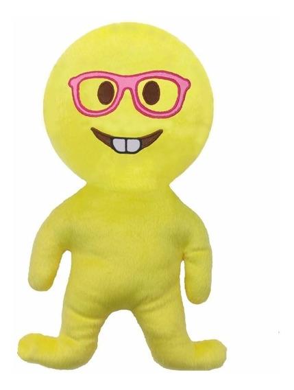 Boneco Bordado De Pelúcia Emoji Nerds Cdf De Oculos