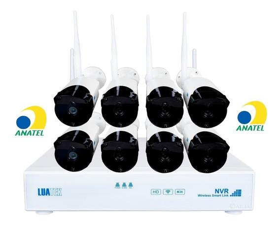 Kit Nvr 8 Câmeras Wireless Sem Fio Ip Hdmi Empresas E Lojas