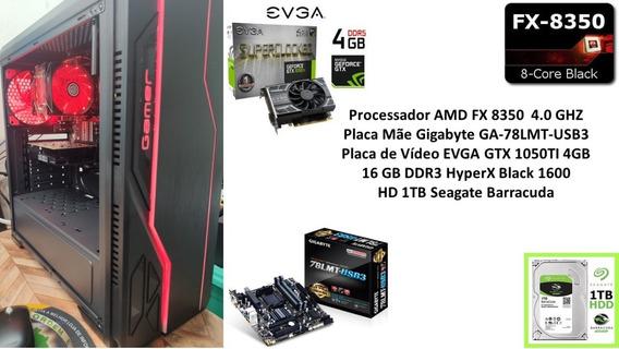Pc Gamer Fx 8350 16gb 1050ti 4gb !!!