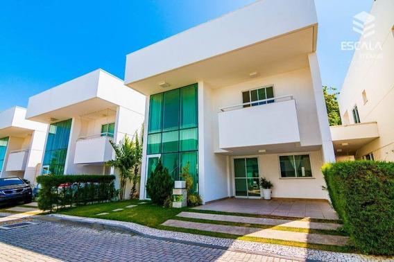 Casa Duplex Com 4 Quartos À Venda, 189 M², Condomínio Fechado - Sapiranga - Fortaleza/ce - Ca0160