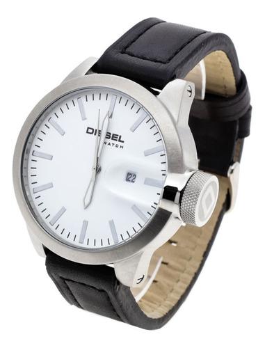Reloj Diesel Hombre 6630 - Acero Cuero Fecha Wr 50