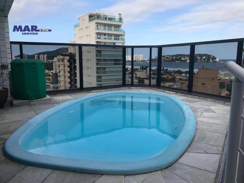 Imagem 1 de 30 de Cobertura Com 4 Dormitórios À Venda, 200 M² Por R$ 1.060.000,00 - Enseada Guaruja - Guarujá/sp - Co0485