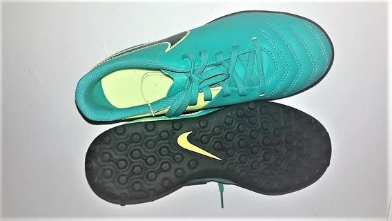 Botines Nike Tiempo Rio Iii Tf Nro 37 Niño Orig Sin Uso