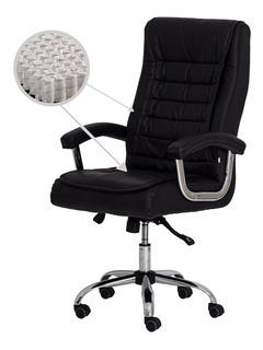 Cadeira Escritório Big Presidente Pu Preta