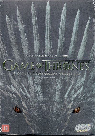 Dvd Game Of Thrones 8ª Temporada Completa 4 Discos