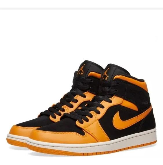 Jordan 1 Mid - Naranja\negro