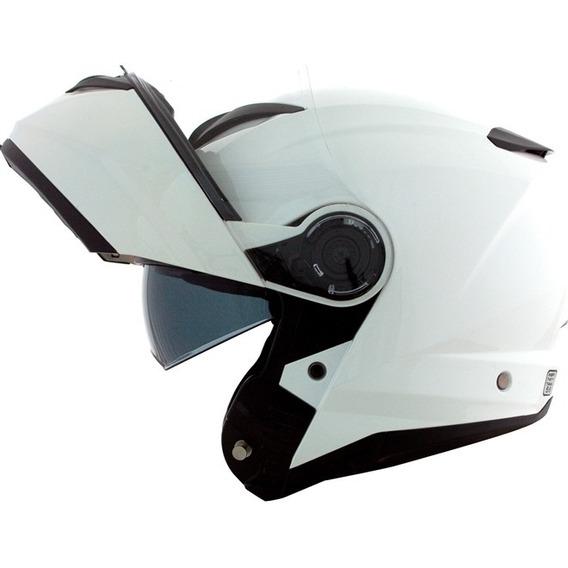 Capacete Norisk Force Articulado Branco + Óculos Solar