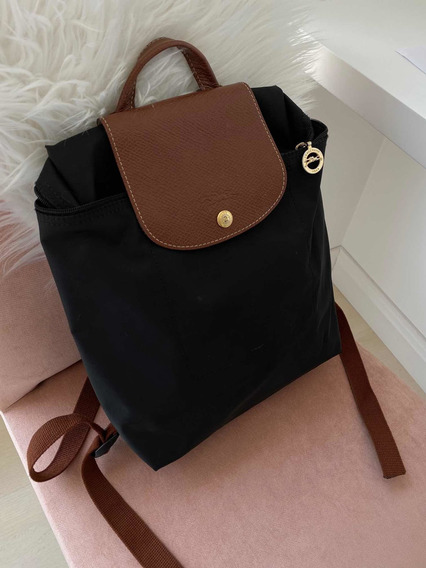 Mochila Longchamp Le Pliage Negra Basica