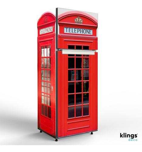 Imagen 1 de 3 de Vinilos Decorativos Heladera Plotter Cabina Teléfono Londres