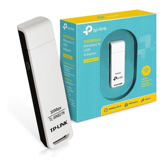Adaptador Usb Wifi Placa De Red Tp Link Wn821n 300mbps Gtia