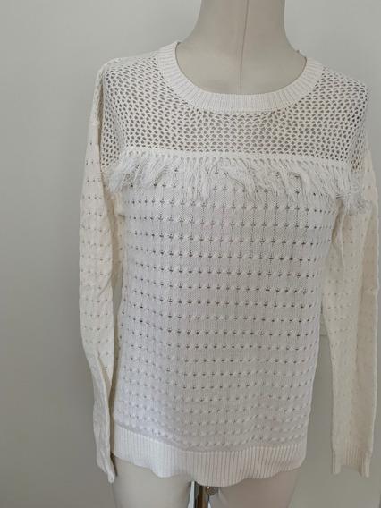 Sweater Marca Aqua Con Flequitos Talle S - Nuevo De Usa