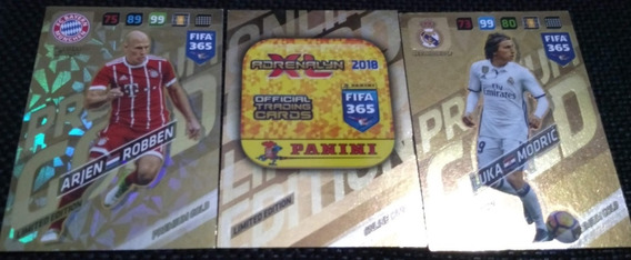3 Cards Limited Edition Premium Gold Do Fifa 365 2018