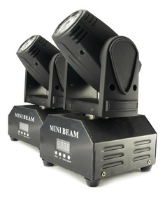 Kit 2 Mini Beam Moving Head Led 12w Cree Rgbw