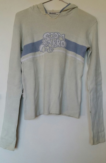 Sweater Mujer Con Capucha Scombro Algodon