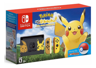Consola Nintendo Switch Edicion Pokemon Lets Go Picachu