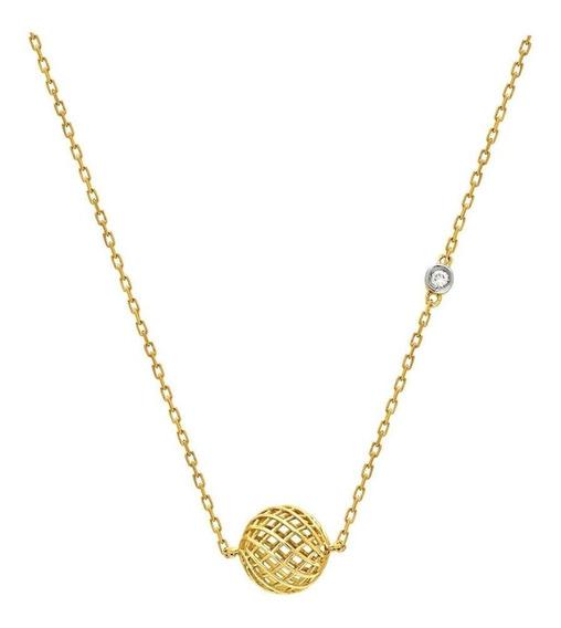 Colar Ouro 18k Diamante Gr407