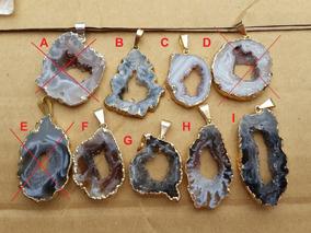 Pingente Drusa - Pedras Naturais Preciosas - Modelo 1