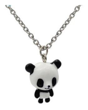 Urso Panda Corrente Com 35cm E Pingente Com 3cm Pandinha Um Verdadeiro Charme Presente Dia Dos Namorados Natal Ano Novo