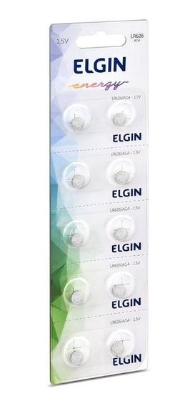 Bateria / Pilha Elgin Lr626 Ag4 Cartela Com 10 Frete Barato