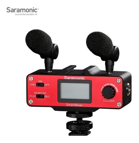 Microfone E Mixer Para Smartphone Saramonic - Smartmixer