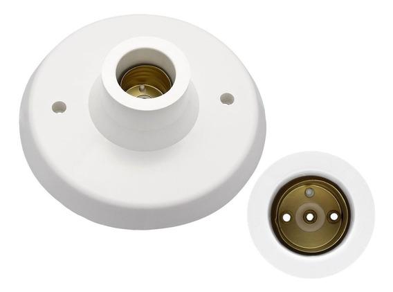 Kit 10 Plafon Plafoniers Bocal Soquete Lampada E27 Inmetro
