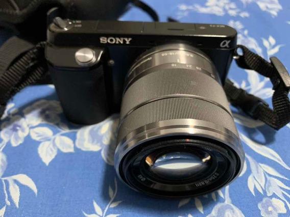 Câmera Sony Alpha Compacta Nex-f3, Lente 18-55, Seminova