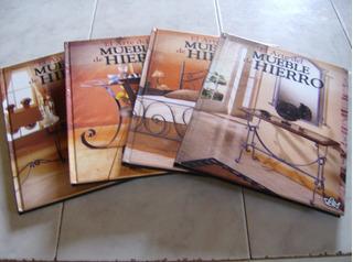 Tomo De 4 Libros Con Su Cd El Arte Del Mueble De Hierro