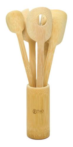 Kit Colheres De Bambu Alecrim
