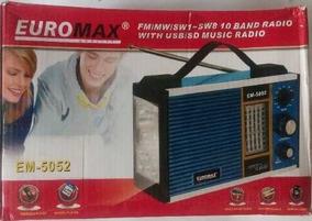 Radio Portatil 10 Bandas Euromax Em-5052