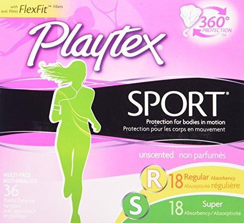 Playtex Sport Tampons Con Tecnología Flex-fit, Regular Y