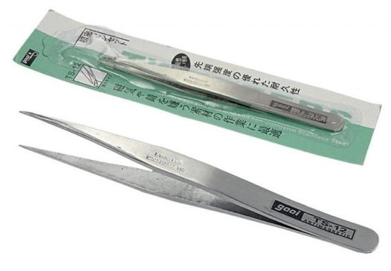 5un Pinça Anti-estatica Gooi Ts-12- Reta Extra Fina 115mm