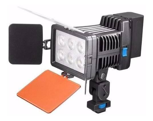 Led Para Câmeras Sony Nikon Canon Dslr 6 Super Potente Leds