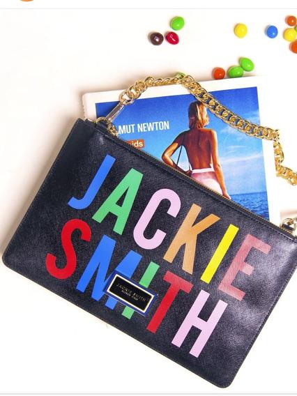 Sobre Clutch Jackie Smith Azul Metalizado Estrella Vintage