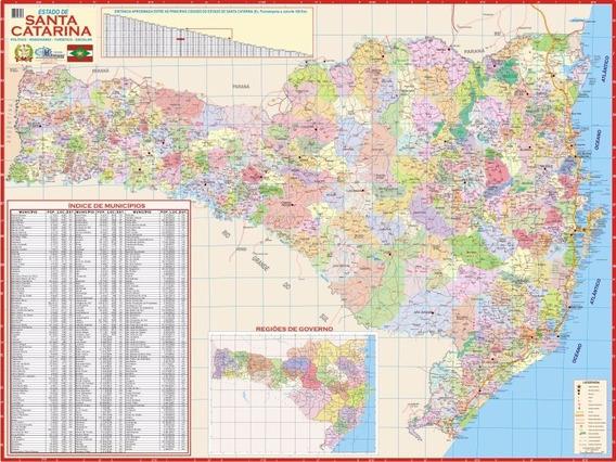 Mapa Estado De Santa Catarina - 120cm X 90cm Gigante