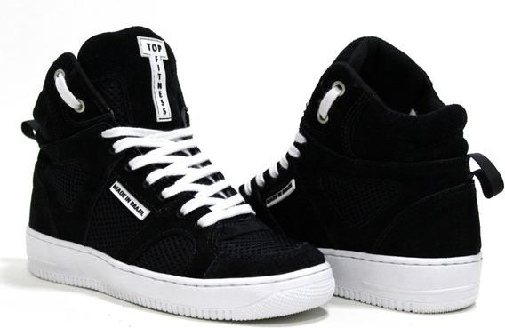 Sneakers Fitness Branco Couro Academia Ginastica Dança Promo