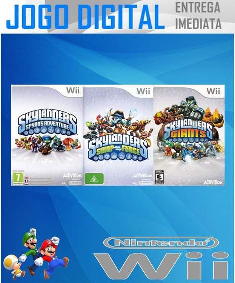 Wii 3 Super Jogos Wii - Skylanders - Receba Agora !!!