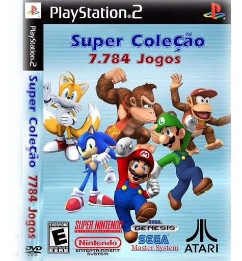 Emulador Super Nitendo 7784 Jogos Patches Play 2,ps2